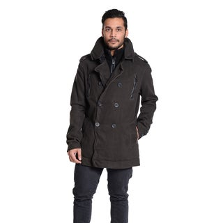 Excelled Men's Double Breasted Curduroy Jacket