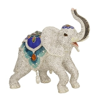 Full Crystal Large Elephant Trinket Box