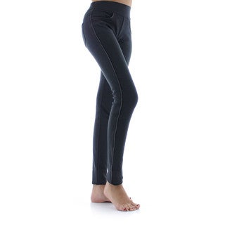 Memoi Women's Pocket Scrunch High-waisted Leggings