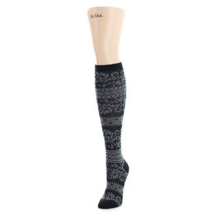 Memoi Women's Compu Garden Knee High