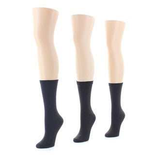 Memoi Women's Texture Socks (Pack of 3)