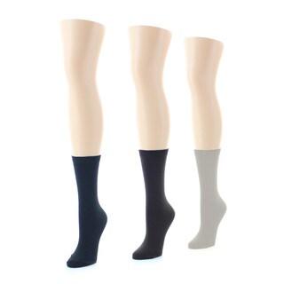Memoi Women's Flatknit Socks (Pack of 3)