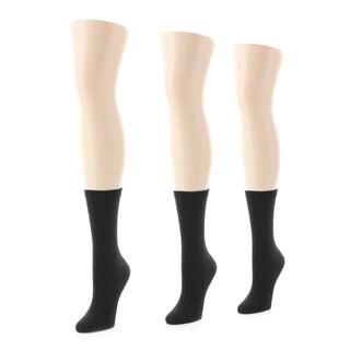 Memoi Women's Rib Socks (Pack of 3)