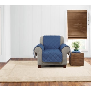 Sure Fit Quilted Denim Sherpa Chair Furniture Protector