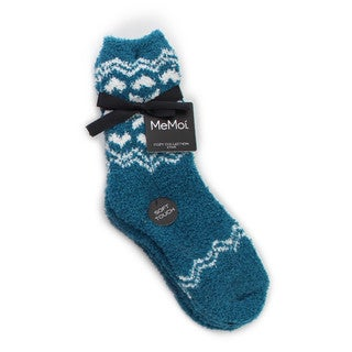 Memoi Women's Snowflake/Solid Cozy Collection (Pack of 2)