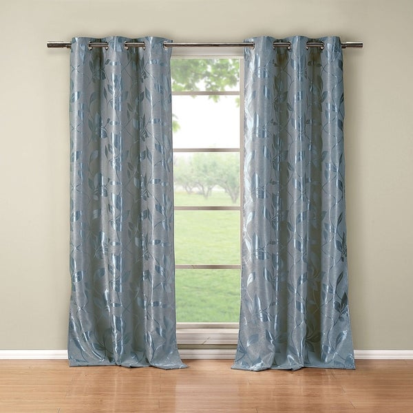 Blair Metallic Blackout Grommet Curtain Panel Pair - 36x84""