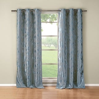 Blair Metallic Blackout Grommet Curtain Panel Pair