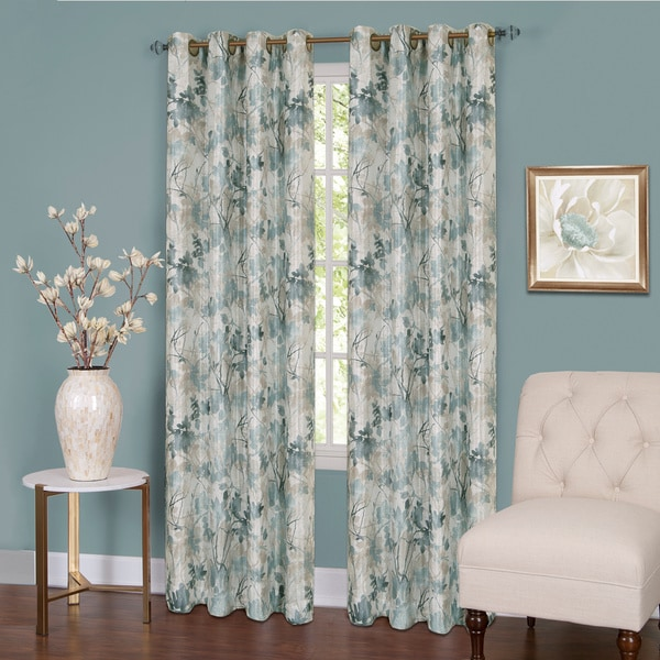 Achim Tranquil Lined Grommet Curtain Panel