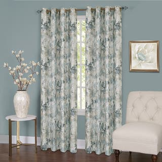living drapes for blackout floral curtains window bedroom blinds modern item room jacquard