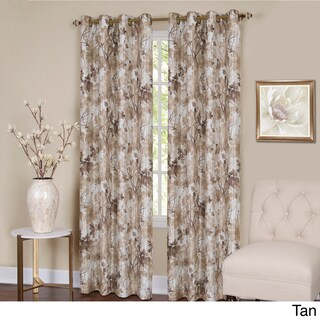 Achim Tranquil Lined Grommet Curtain Panel (Option: 84 Inches - Off-White)