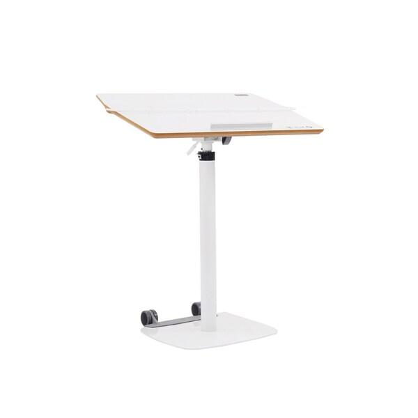 TCT Nanotec Ergonomic Adjustable Height White Laptop Desk