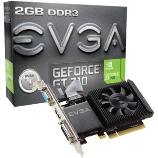 EVGA GeForce GT 710 Graphic Card - 954 MHz Core - 2 GB DDR3 SDRAM - L