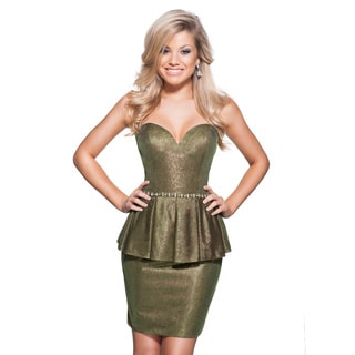 Terani Couture Sweetheart Top Short Dress