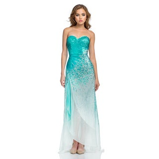 Terani Couture Sweetheart Silk Prom Gown with Starburst Beading