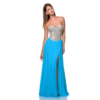 Terani Couture Strapless Sweetheart Gown