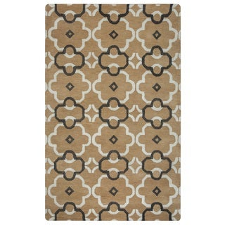 Rizzy Home Opus Collection Ornamental Brown Accent Rug (5' x 8') (5' x 8')