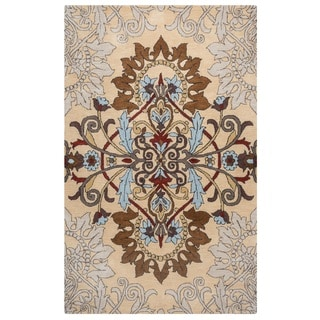 Rizzy Home Palmer Collection Multicolored Medallion Area Rug (5' x 8')