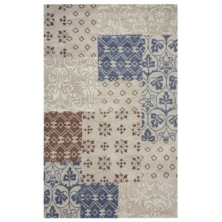 Rizzy Home Palmer Collection Multicolored Patchwork Area Rug (5' x 8')