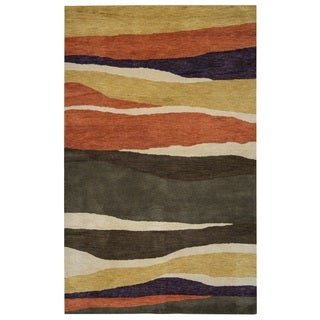 Rizzy Home Pandora Collection Multicolored Stripes Area Rug (5' x 8')