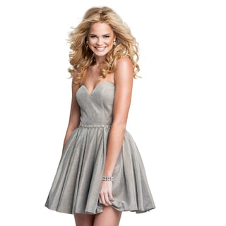 Terani Couture Short Strapless Homecoming Dress