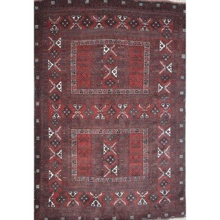 Hand-knotted Afghan Baloochi Wool Rug (5'6 x 8')