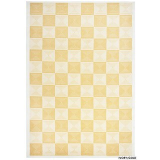 "Rizzy Home Glendale Collection Power-loomed Ivory Checkered Area Rug (6'7 x 9'6) - 6'7"" x 9'6"""