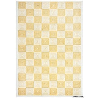 """Rizzy Home Glendale Collection Ivory Power-loomed Checkered Area Rug (5'3 x 7'7) - 5'3"""" x 7'7"""""""