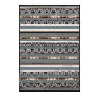 Rizzy Home Glendale Collection Power-loomed Multicolored Patterned and Stripe Area Rug (6'7 x 9'6)