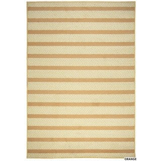 "Rizzy Home Glendale Collection Power-loomed Striped Area Rug (6'7 x 9'6) - 6'7"" x 9'6"""