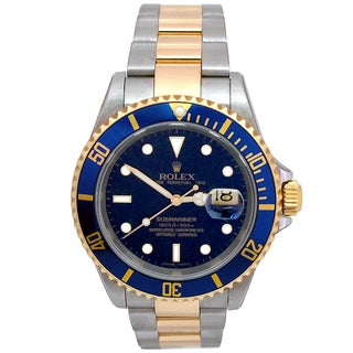 Pre-owned Rolex 16613 Submariner Men's Two-tone 18k Yellow Gold and Stainless Steel Watch