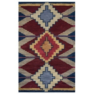 Rizzy Home Multicolored Southwest Collection Accent Rug (5' x 8')