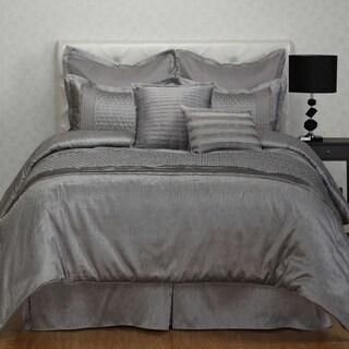 Madison Park Crawford Grey Jacquard 7 Piece Comforter Set