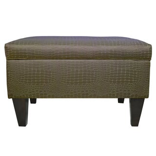 MJL Furniture Brooklyn Upholstered Tillie Square-legged Box Storage Ottoman