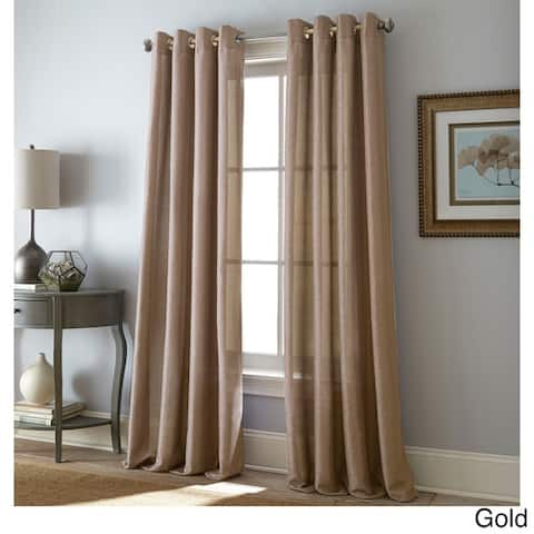 Grand Avenue Kay Grommet-Top Single Curtain Panel