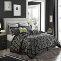 Nanshing Alhambra Grey Jacquard 8-piece Comforter Set