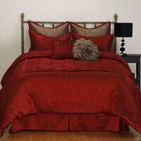 Nanshing Granville Red Floral 8-piece Comforter Set