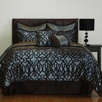 Nanshing Jordan Blue Medallion 8-piece Comforter Set