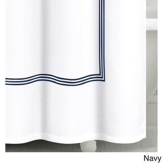 Echelon Home Three Line Hotel Collection Matelasse Shower Curtain