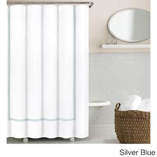 Echelon Home Three Line Hotel Collection Matelasse Shower Curtain 5 Options Available