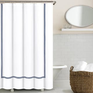 Echelon Home Three Line Hotel Collection Matelasse Shower Curtain|https://ak1.ostkcdn.com/images/products/11142928/P18141427.jpg?impolicy=medium