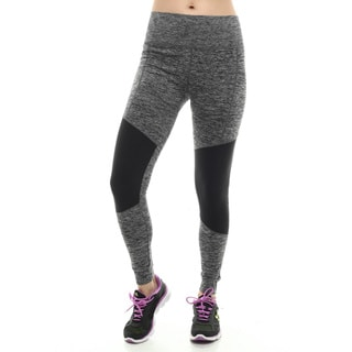 Women's Black and Grey Yoga Legging