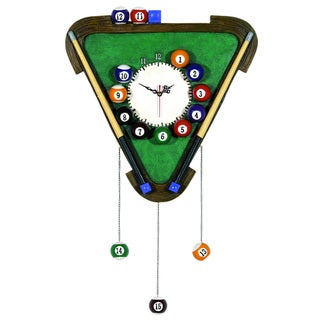 RAM Game Room Billiards Themed Wall Clock