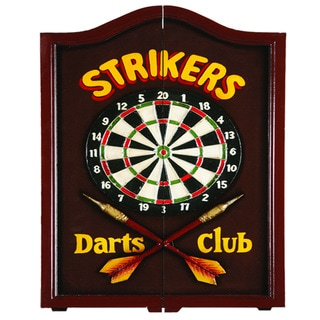 RAM Game Room 'Strikers' Solid Wood Wall Mounted Dart Board Cabinet