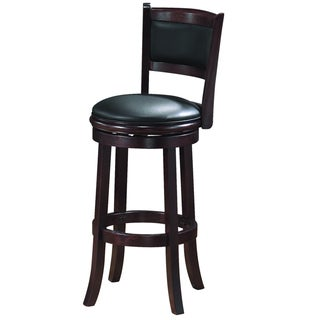 Alexis Cappuccino Padded Back 29 Inch Bar Stool 13344945
