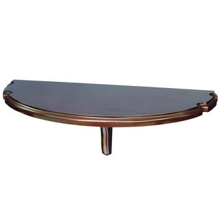 RAM Game Room Wall Mounted Cappuccino Brown Pub Table with Cue Rests