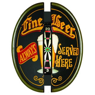 RAM Game Room Beer Themed Dartboard Cabinet with Storage