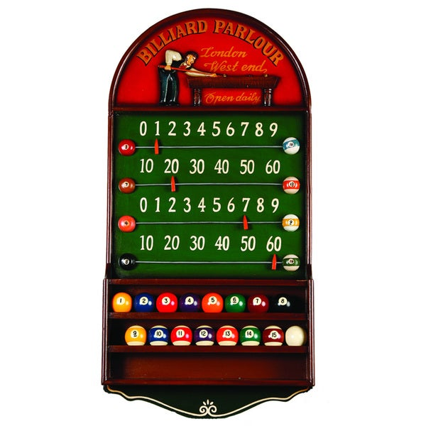 RAM Game Room Billiard Parlour Wall Mounted Scoreboard and Ball Rack