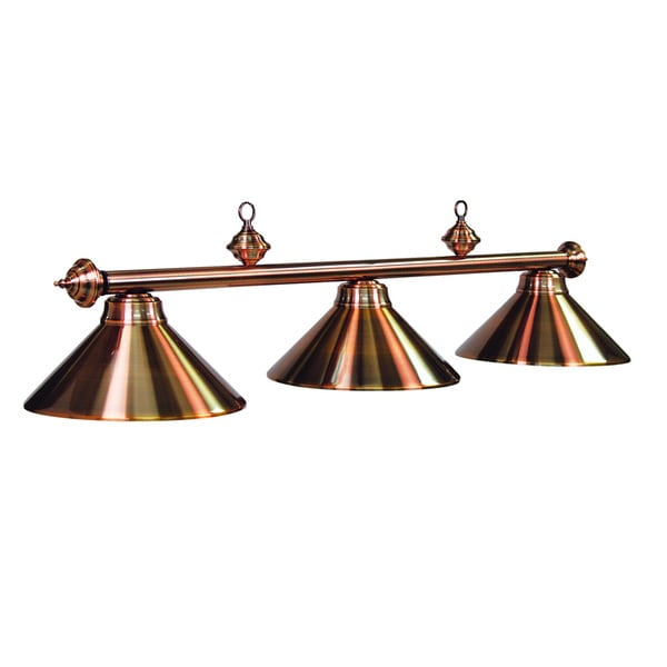 RAM Game Room Antique Copper 3-light Billiard Fixture