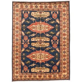 ecarpetgallery Finest Kargahi Blue Wool Rug (7 x 9'7)