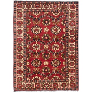 ecarpetgallery Finest Kargahi Red Wool Rug (7 x 9'6)